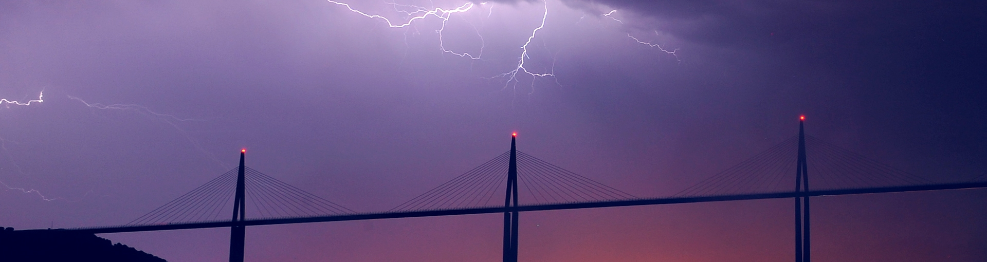 Thunderstorm and lightning on the Viaduct