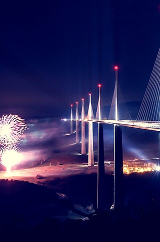 Celebrations at Millau Viaduct